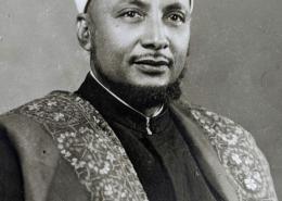 صورة سماحة المفتي في أوائل الستينيات من العام الميلادي